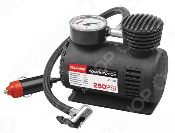 Компрессор автомобильный StarWind CC-100 компрессор для шин 3 12v 250 psi