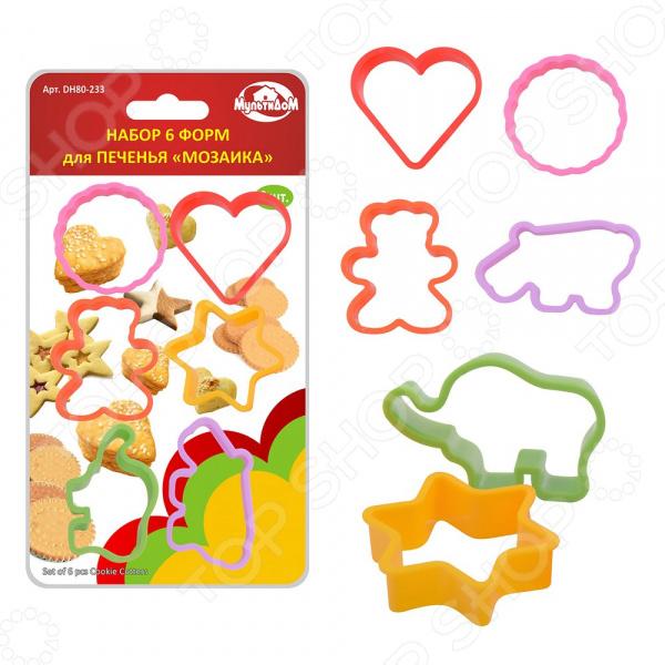 Набор форм для выпечки печенья Мультидом «Мозаика» DH80-233. В ассортименте набор фигурных печатей для мастики и марципана мультидом dh80 198 в ассортименте