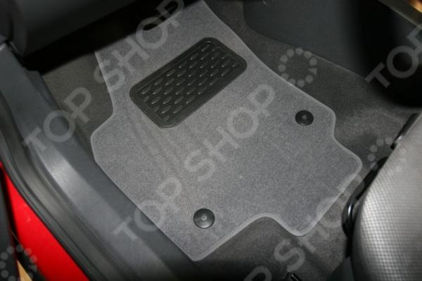 Комплект ковриков в салон автомобиля Novline-Autofamily Opel Astra H 5D 2004 хэтчбек. Цвет: черный накладка на задний бампер с загибом opel astra h combi 2004 2009