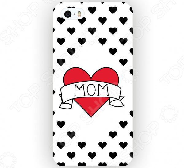Чехол для iPhone 5 Mitya Veselkov I love mom на белом стоимость