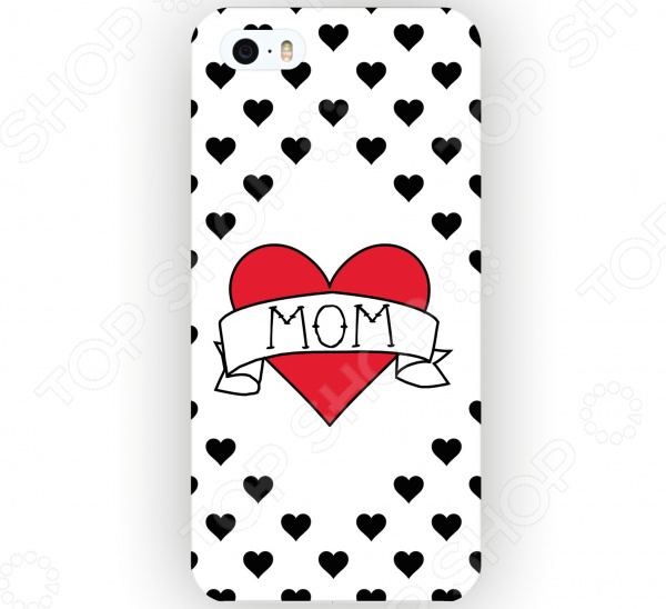 Чехол для iPhone 5 Mitya Veselkov I love mom на белом чехол для iphone 6 mitya veselkov i love усики ip6