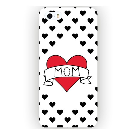 Чехол для iPhone 5 Mitya Veselkov «I love mom на белом»