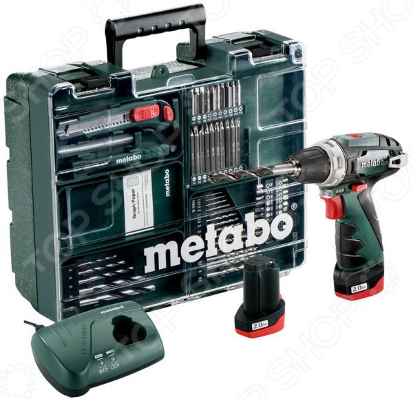 Дрель-шуруповерт аккумуляторная Metabo PowerMaxxBSBasicSet дрель шуруповерт metabo powermaxx bs basic 600080510