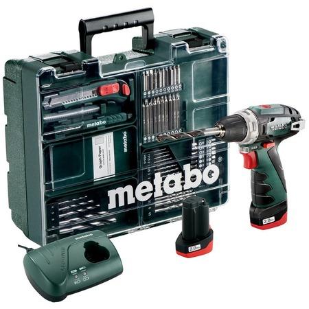 Купить Дрель-шуруповерт аккумуляторная Metabo PowerMaxx BS Basic Set