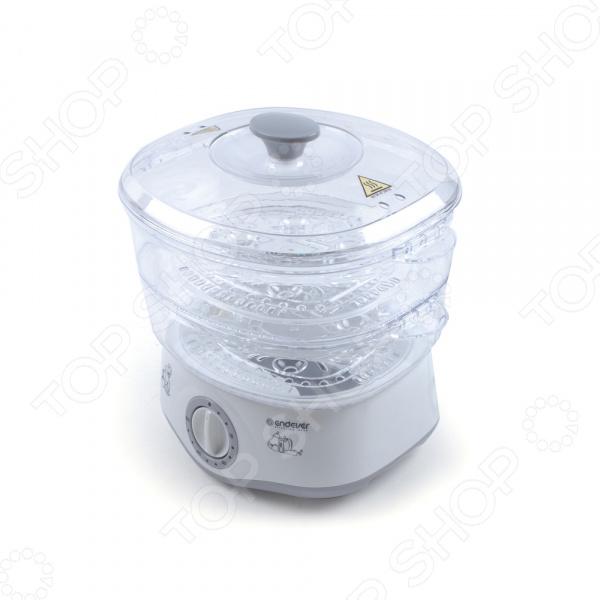 Пароварка Endever Vita-160 предназначена для приготовления вкусной и здоровой пищи на пару без добавления масла или жира. С ее помощью можно готовить овощи, крупы и даже сварить яйца. Этот прибор нисколько не снизит разнообразие блюд, а наоборот позволит создавать истинные кулинарные шедевры. Мультиварка является многофункциональным прибором. Помимо приготовления блюд на пару, в ней можно размораживать продукты и дезинфицировать посуду. Последняя функция пригодится тем, у кого дома есть маленький ребенок. С мультиваркой стерилизация детских бутылочек и контейнеров будет проходить быстрее и эффективнее. Прибор обладает ярким эффектным дизайном. Корпус состоит из жаропрочного био-пластика, который не деформируется и не выделяет вредные компоненты в продукты. Таймер можно ставить максимум на один час. Система защиты от перегрева оборудована двумя ступенями безопасности. Прозрачные пластиковые лотки позволяют наблюдать приготовление пищи в процессе. Ухаживать за прибором очень просто: чашу и лотки можно мыть в посудомоечной машине.