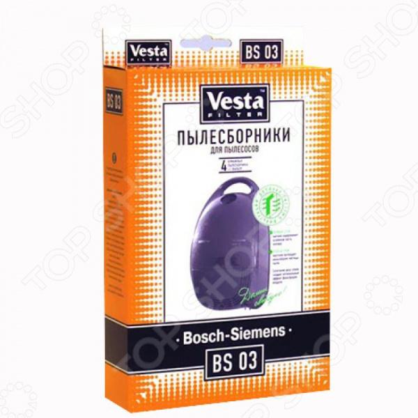 Мешки для пыли Vesta BS 03 для Bosch мешки для пыли vesta bs 03 для bosch