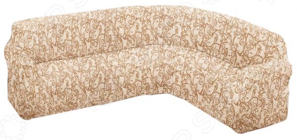 Натяжной чехол на классический угловой диван Еврочехол Еврочехол «Виста. Антея»
