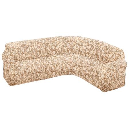 Купить Натяжной чехол на классический угловой диван Еврочехол «Виста. Антея»