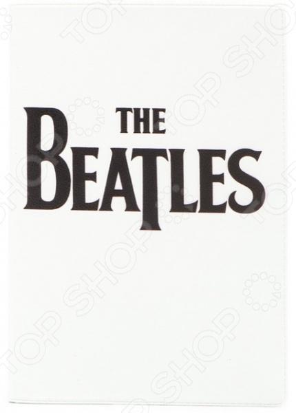 Обложка для автодокументов кожаная Mitya Veselkov «The Beatles на белом» обложка для автодокументов кожаная mitya veselkov красный олень на белом