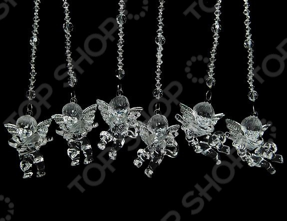 Новогоднее украшение Crystal Deco «Ангел с камнями». В ассортименте