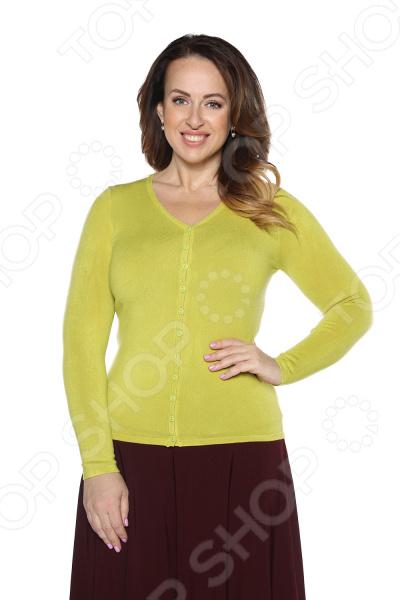 Кардиган Milana Style «Прекрасный вариант». Цвет: салатовый кардиган milana style milana style mi038ewvvy52