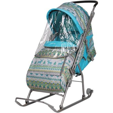 Купить Санки-коляска Ника «Вязаный узор»