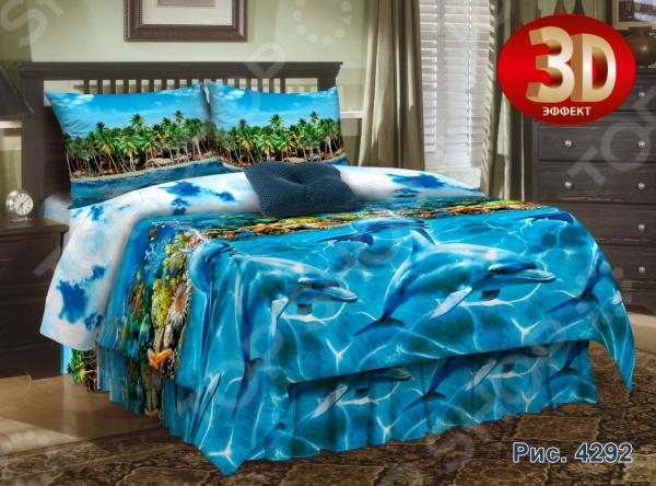 Zakazat.ru: Комплект постельного белья Диана «Дельфины». Семейный
