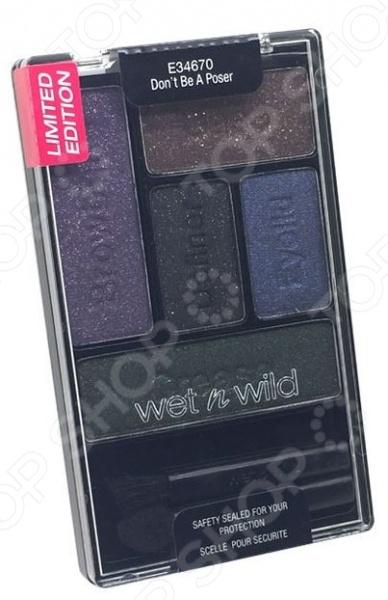 Набор теней для глаз Wet n Wild Don't Be a Poser. Цветовая гамма: синяя