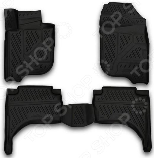 Комплект 3D ковриков в салон автомобиля Element Mitsubishi L200, 2015 коврики салона rival для toyota rav4 2013 2015 2015 н в резина 65706001