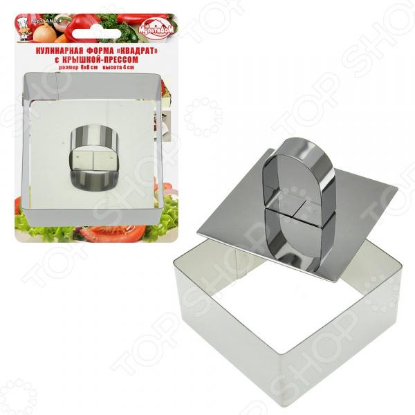 Форма кулинарная с крышкой-прессом Мультидом «Квадрат» AN8-4