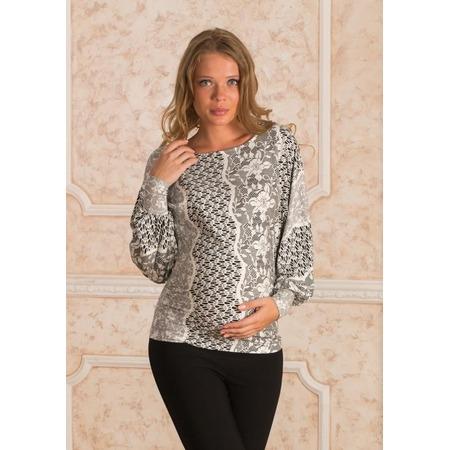 Купить Блузка для беременных Nuova Vita 1338.2. Цвет: черный, белый