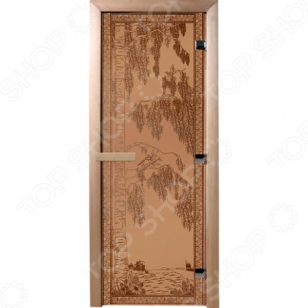 Дверь для бани Банные штучки «Березка» 34013 дверь березка стекло бронза матовая 8мм банные штучки 34013