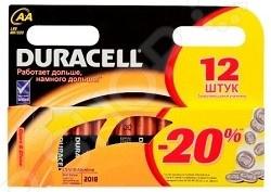 Набор батареек щелочных Duracell LR6-12BL Basic набор инструмента tundra basic 882076