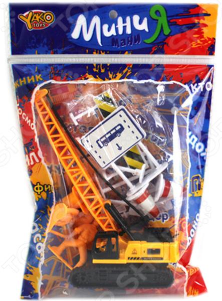 Машина игрушечная с аксессуарами Yako «Строительная техника» 1724719 игровые наборы yako игровой набор пицца