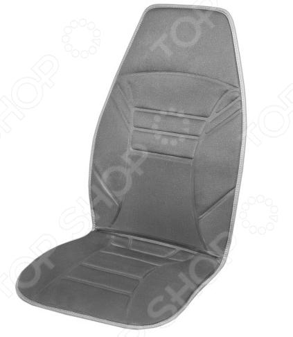 Накидка на сиденье с подогревом и терморегулятором SKYWAY «2 толстые полоски»