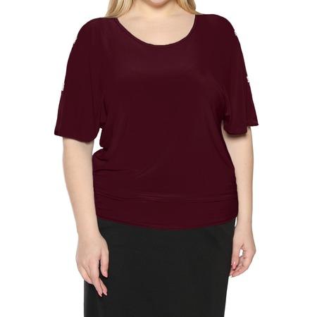 Купить Блуза Pretty Woman «Фруктовый заряд». Цвет: бордовый