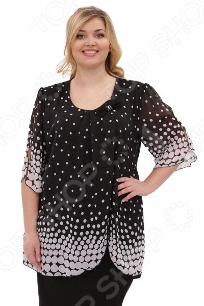 Туника Laura Amatti «Шарлота». Цвет: черный юбка laura amatti изабелина цвет бордовый
