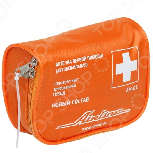 Аптечка автомобильная Airline AM-01 апполо аптечка первой помощи автомобильная авто
