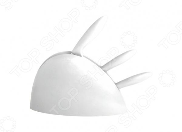 Набор ножей на подставке Queen Ruby QR-6100 противень queen ruby с антипригарным покрытием 3 шт qr 8208