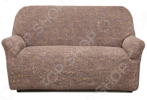Натяжной чехол на двухместный диван Еврочехол «Виста. Фьюжн»