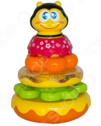 Игрушка-пирамидка HAP-P-KID «Пчёлка» настольные игры hap p kid пинбол домашние животные