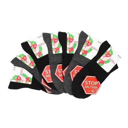 Купить Комплект женских носков BIZELL «Неделька»: 7 шт. Цвет: черный, серый
