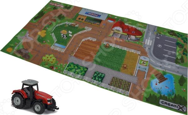 Коврик игровой Majorette Creatix Farm с машинкой