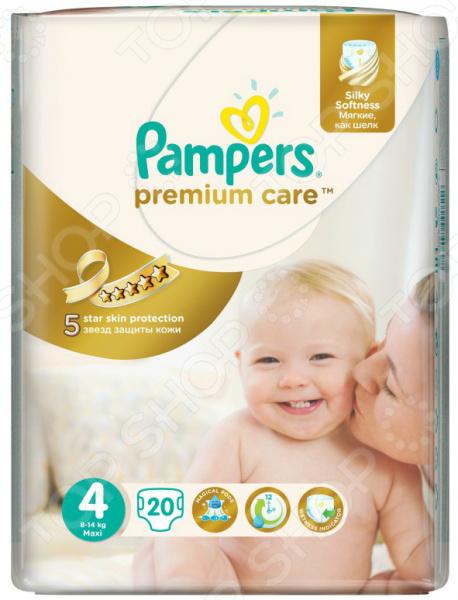 Подгузники Pampers Premium Care 8-14 кг, размер 4, 20 шт.