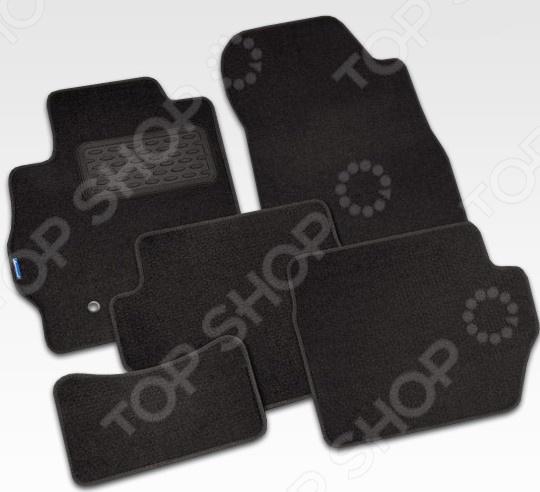 Комплект ковриков в салон автомобиля Novline-Autofamily Citroen C5 2005-2008. Цвет: серый