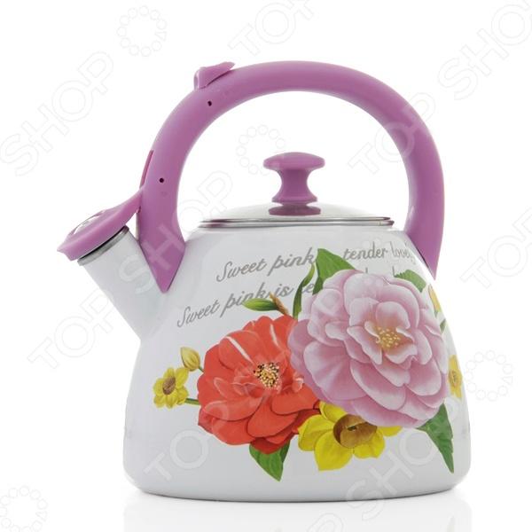 Чайник со свистком Mayer&Boch MB-23937 «Цветы»