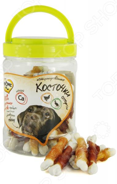 Лакомство для собак Мнямс «Кальцинированные косточки ассорти с куриным и утиным мясом» абрикосовые косточки в пензе
