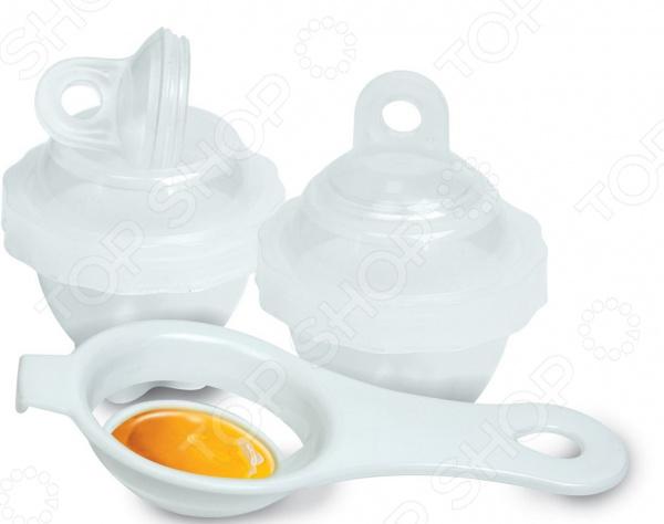 Формы для варки яиц и ложка-сепаратор Marmiton 17012 сепаратор для яиц мультидом