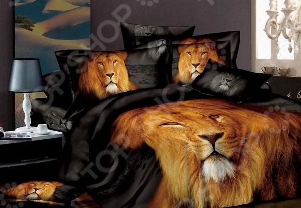 Комплект постельного белья с эффектом 3D «Царь зверей». 2-спальный мар текс
