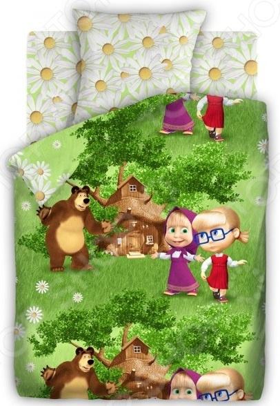 Детский комплект постельного белья Непоседа «Маша и Медведь. Двое на одного» детский комплект постельного белья непоседа на рыбалке