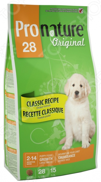 ���� ����� ��� ������ ������� ����� Pronature Original 28 Classic Recipe Puppy Large Breed