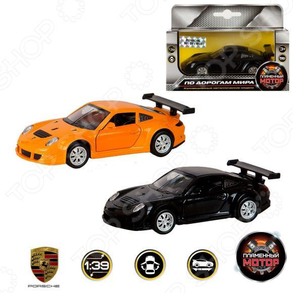 Модель автомобиля 1:39 Пламенный Мотор Porsche GT3 RSR. В ассортименте