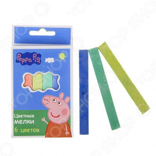 Набор цветных мелков для детей Росмэн «Свинка Пеппа»