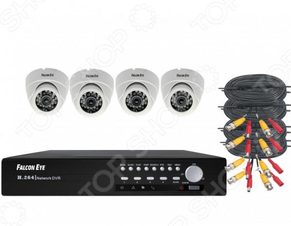 Комплект видеонаблюдения FALCON EYE FE-104MHD KIT «Дом» аксессуары для систем видеонаблюдения