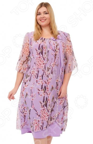 Платье Laura Amatti «Первое свидание». Цвет: сиреневый