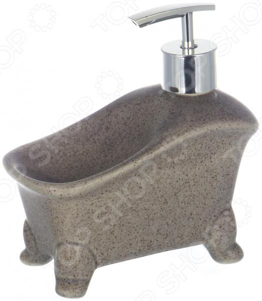 Диспенсер для жидкого мыла с губкой Elrington «Крошка» диспенсер для мыла с губкой 13 8 14см уп 1 24шт