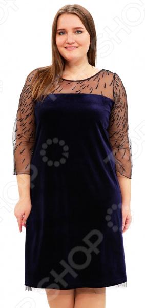 Платье Лауме-Лайн «Обольстительная женщина». Цвет: темно-синий лэндон д обольстительная самозванка роман