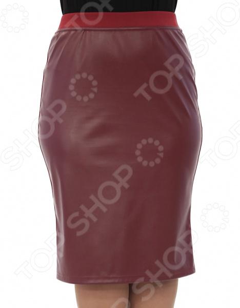 Юбка Лауме-Лайн «Модница». Цвет: бордовый