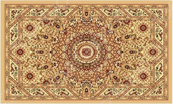 Ковер прямоугольный Kamalak tekstil «Солнце». Цвет: бежевый - артикул: 1602337