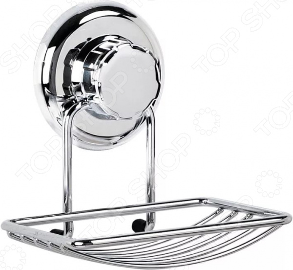 Мыльница настенная Tatkraft Mega Lock полка для ванной комнаты tatkraft mega lock vena цвет серый металлик